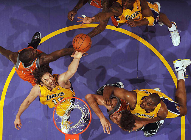 Thanks to Pau Gasol's new power game, the Lakers now own a 2-0 series lead over the Suns in the Western Conference finals. Here are some of SI's best shots from L.A.'s 124-112 win on Wednesday.