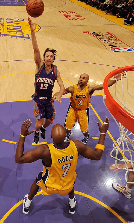 Though Steve Nash posted a double-double (13 points, 13 assists), it wasn't enough to make a dent in the Suns' deficit.