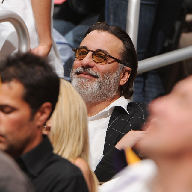 Vincent Mancini, we mean Andy Garcia, watches Kobe Bryant and the Lakers upend the Jazz in Game 1 of the Western Conference semifinals in L.A.