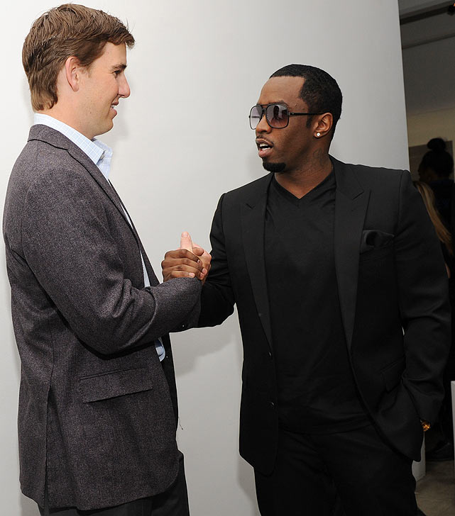 Manning hung with Sean Combs at the launch of G Series Pro by Gatorade in New York City.