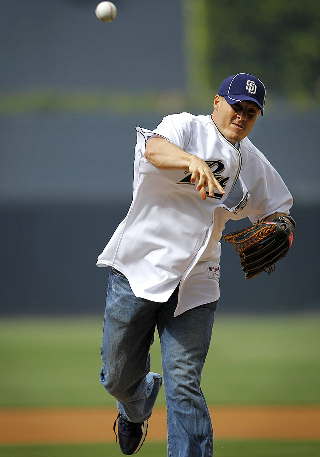 Rivers threw out the first pitch on Opening Day at Petco Park in San Diego. The Padres beat the Braves that day, 17-2.