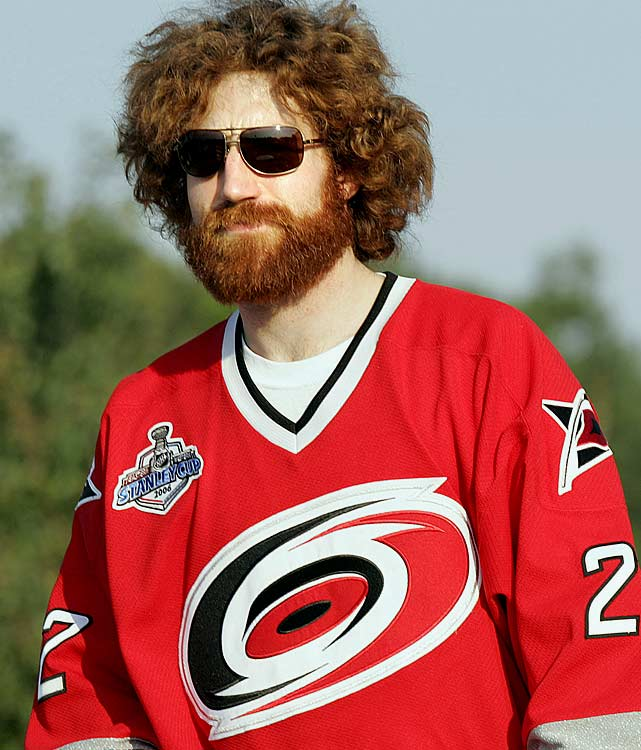 One of the all-time great looks was achieved by Carolina Hurricanes defenseman Mike Commodore, who looked like a roadie for the Blue Oyster Cult during his team's run to the Stanley Cup championship in 2006.