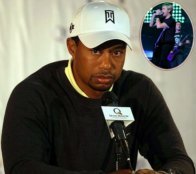 "For the first time in a long time, Tiger Woods was spotted...GASP... ""hanging out,""  and received a significant amount of flack for attending a Nickelback concert. ""Nickelback -- a couple of the band members are friends of mine, and that's why I went. I just had a great time. And unfortunately, I got criticized for seeing my friends.''"