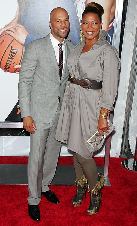 Just in time for the NBA playoffs, a sports movie about comebacks. And who better to star than two rappers?  Queen Latifa and Common join forces in  Just Wright , a flic about a gold digger (Paula Patton), her friend (Latifa) and a basketball player (Common) who has to work his way back from a potential career-ending injury.  The film, which comes out this Friday, has cameos by Dwight Howard and Dwyane Wade and throws in Celtics guard Rajon Rondo for good measure.