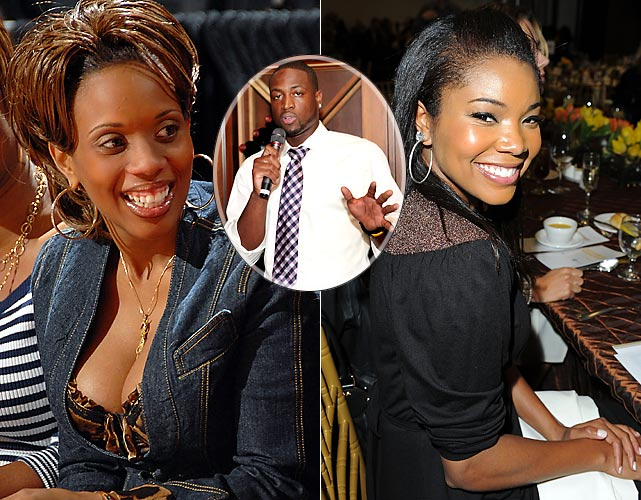 Oh the perks of being a professional athlete's girlfriend.  Fancy dinners.  Large pieces of jewelry.  Estranged ex-wives?  Gabrielle Union is learning first-hand that dating Dwyane Wade has its low points.  The gloves are coming off in the divorce between the basketball star and Siohvaughn Wade, who has filed a suit against Union, claiming her relationship with D-Wade has caused the Miami Heat guard's two sons emotional distress.