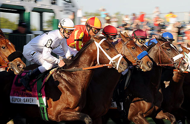 Twelve horses were in the field for the Preakness, the second leg of the Triple Crown.