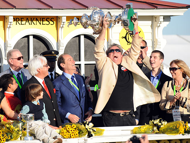 It was the ninth win in a Triple Crown race for trainer Bob Baffert, who also won his fifth Preakness, tying him for second place with D. Wayne Lukas.