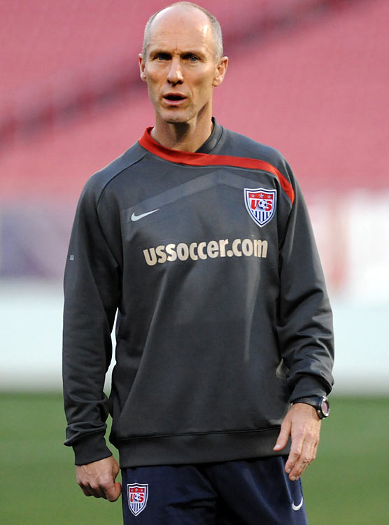 """""""We're talking about having a U.S. coaches' Twitter from here on out. So all the things we say when we sit at the table and talk about players who had good training sessions, we're just gonna put it all on Twitter.""""     U.S. men's soccer coach Bob Bradley sarcastically describing his Twitter usage"""