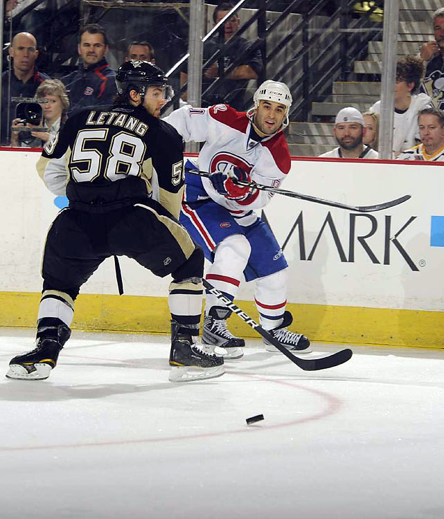 """""""That's what we wanted to do, a series like this, we wanted to get one (in Pittsburgh). It's far from over. But we came for one.""""     Montreal Canadiens center Scott Gomez after tying the series with Pittsburg at 1-1"""