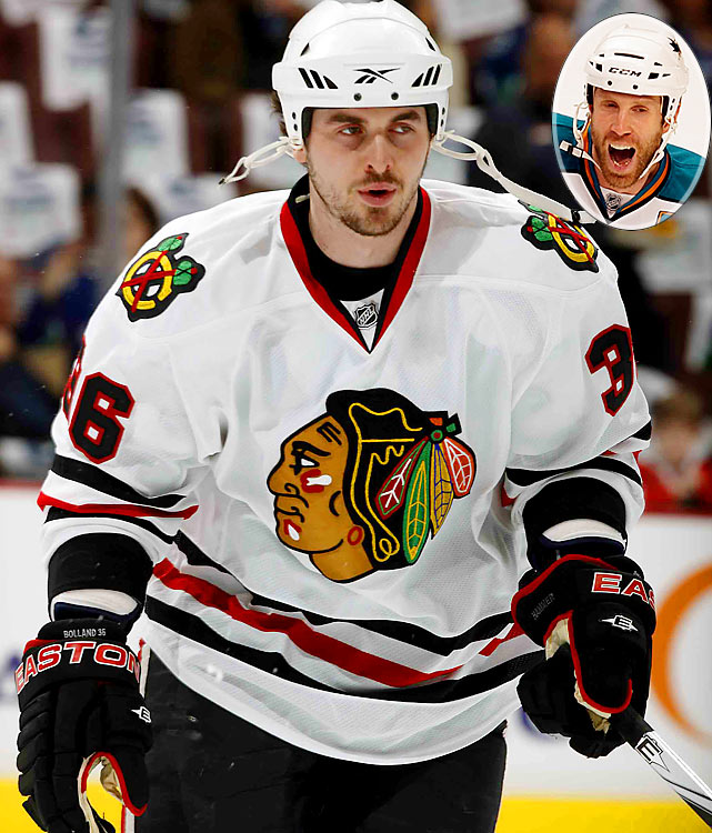 """""""When you take a draw, you go for a puck, not a wrist, right?""""    Blackhawks' Dave Bolland after Sharks' Joe Thorton slashed his wrist before a faceoff."""