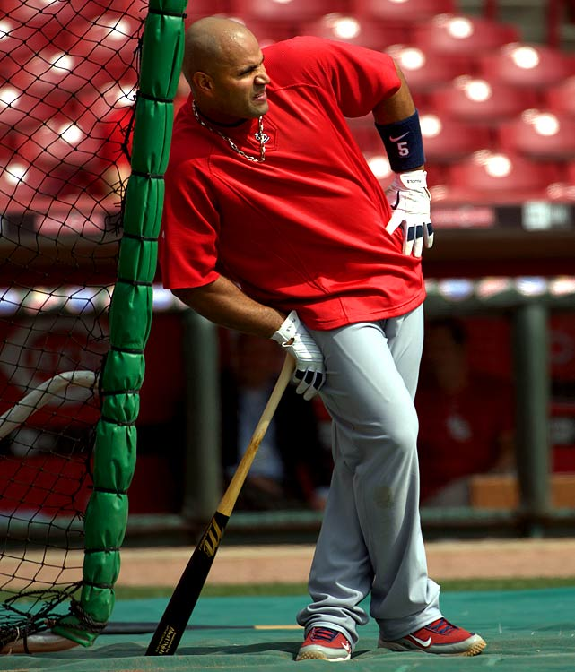 When reports surfaced that Albert's lower back was hurting him enough to have an MRI and an anti-inflammatory shot during 2010 spring training, Cardinals fans felt a jolt of fear. His pains have since disappeared, and Pujols is once again tearing up the baseball.