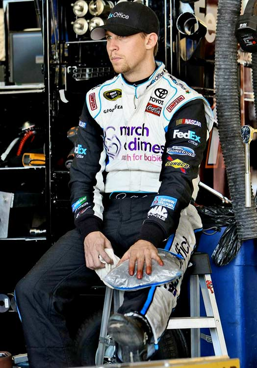 On March 31, Denny Hamlin had surgery to repair an ACL tear in his left knee. Less than two weeks later, he was back in his car, and back to winning races -- his latest coming last week at Darlington.
