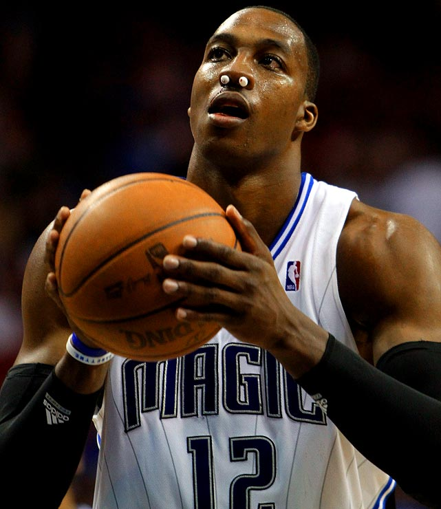 Nose injuries are commonplace in the NHL and NFL, and lately the amount of face masks and nose bleeds have skyrocketed in pro hoops. Dwight Howard was the latest baller to plug his nostrils after a hit to the schnoz.