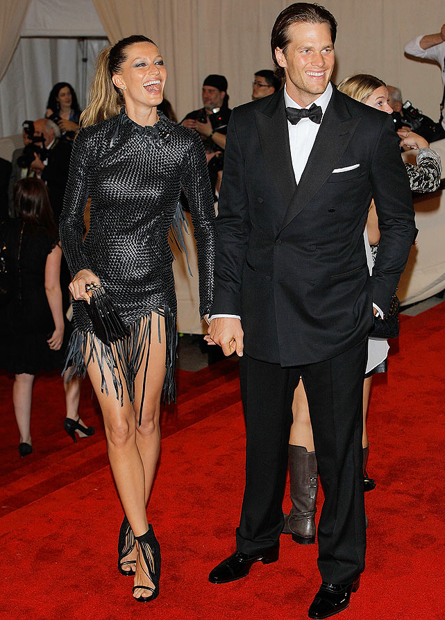 On May 3, Brady accompanied his wife, Gisele Bundchen, to the Costume Institute Gala Benefit to celebrate the opening of the 'American Woman: Fashioning a National Identity' exhibition at The Metropolitan Museum of Art in New York City.