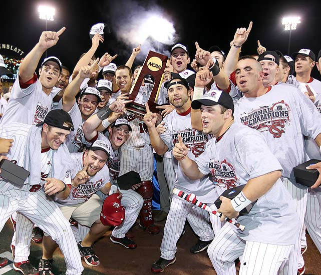South Carolina rebounded from a loss in its first CWS game to win six straight to lift the trophy.