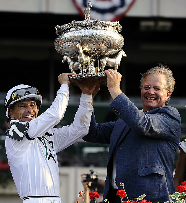 Hall of Fame trainer Bill Mott (right), the youngest trainer inducted into racing's Hall of Fame at the age of 45 in 1998, had been 0-for-13 in Triple Crown races.