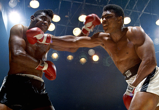 In a battle of former Olympic gold medalists in November 1965, Ali kept Floyd Patterson from becoming the first boxer to win the world heavyweight title three times by winning via a 12th round TKO.