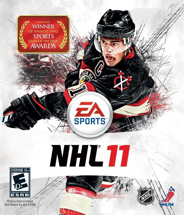 Chicago Blackhawks center Jonathan Toews is on a seriously impressive roll. Toews racked up a gold medal with Team Canada in Vancouver, a Stanley Cup with Chicago and the Conn Smyth award. Next, he'll grace the cover of EA's highly successful NHL franchise, which is scheduled for a September 7 release on the Xbox 360 and PS3.