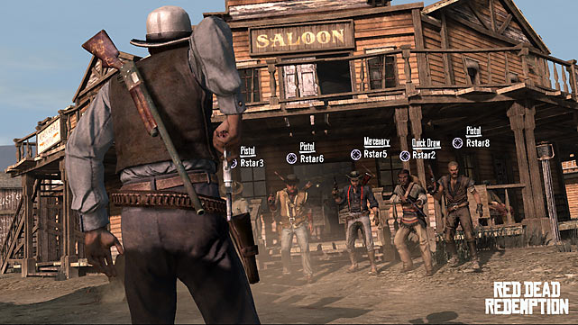 In  Read Dead Redemptio n you play as John Marston, a former outlaw forced to track down his old gang. This classic Western-inspired game takes place at the turn of the 20th century and is set in an open world featuring three massive territories loaded with required story missions and a ton of optional side quests. You'll encounter a big cast of characters as you progress through the game, which is loaded with tons of amazing details and delivers some of the best graphics we've ever seen and some of the best audio to date. The stellar musical score and spot-on voice acting work with the visual elements to create an amazingly immersive experience. Gameplay is very well done when it comes to realistic physics, which makes repetitive tasks like riding your horse around very satisfying. In the game you'll do everything from hunting down outlaws to rustling cattle to fighting in large-scale gun fights. Because it's a sandbox-style game, you can decide if you want to be good or bad as you accumulate Honor and Fame ratings. Multiplayer options are robust, featuring everything from free roam levels, to team death matches, to capture the bag. This deep, detailed game is an early contender for game of the year. Yee haw, pardner!  Score: 10/10