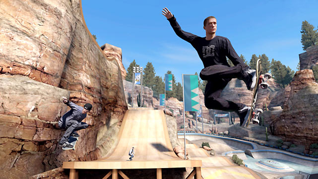 "True, the skate franchise has kick-flipped Tony Hawk to the curb, but  skate 3  -- the game's third release in four years -- borders on overkill. Instead of major gameplay upgrades,  skate 3  focuses on teamwork and social networking. You can now build your own team of skaters -- either with AI or other gamers online -- and complete challenges as a crew to help develop your own new skate brand. The new ""skate.feed"" functionality helps you track your friends' custom parks and board graphics online. Gameplay is largely unchanged, except for an Easy Mode that dumbs down the analog stick controls for first-timers.  skate 3  upholds the franchise's lofty standards, but the game doesn't feature enough new elements to stand out from the first two builds.  Score: 8/10"