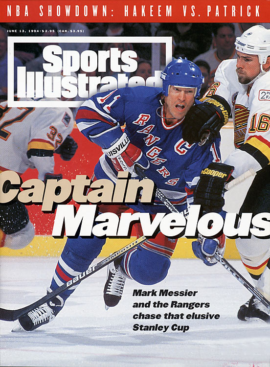 "The Rangers and Canucks squared off at Madison Square Garden for Game 7 of the Stanley Cup finals with New York hoping to end a 54-year championship drought. On the strength of Mark Messier's winning goal, the Rangers took home the hardware, and Messier was deemed ""Mr. June"" by New Yorkers. The championship was the Rangers' fourth in franchise history. Brian Leetch was named series MVP."
