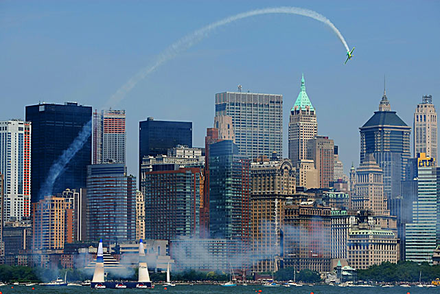 Michael Goulian of the U.S. in action during the Red Bull Air Race on June 19 in New Jersey.
