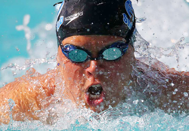 Elizabeth Beisel during the 200-meter breaststroke finals at the Santa Clara International Invitational.