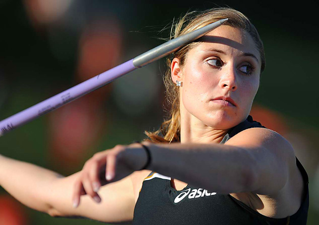 Kara Patterson broke the American record in the javelin with a toss of 218 feet, 9 inches at the USA Track and Field national championships on June 25.