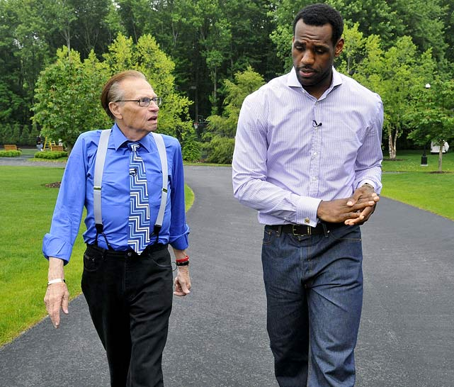 Breaking a nearly two-week media silence since the Cavaliers were eliminated from the playoffs, LeBron gave his first interview previewing the offseason to CNN's Larry King. In the interview, he told King that the Cavs have the edge in re-signing him. But he also said he was far from a decision and that the chance to win would be the biggest factor.