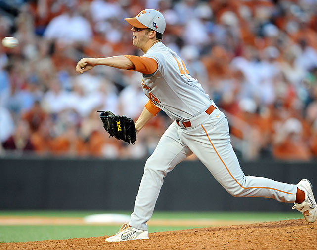 The Texas-Boston College NCAA regional contest went for 7 hours 3 minutes in Austin before the Longhorns came out with a 3-2 win. Reliever Austin Wood tossed 12-1/3 innings of no-hit ball for the victors, who prevailed on Travis Tucker's single through a drawn-in infield.