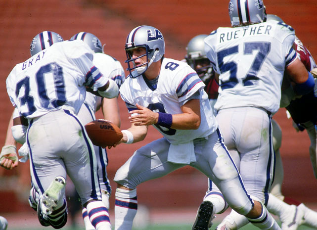 With Steve Young calling the signals, and throwing three touchdown passes, the Los Angeles Express of the USFL fought the Michigan Panthers for 93 minutes, 33 seconds before prevailing 27-21. This one set the mark for the longest pro football game played in the United States.