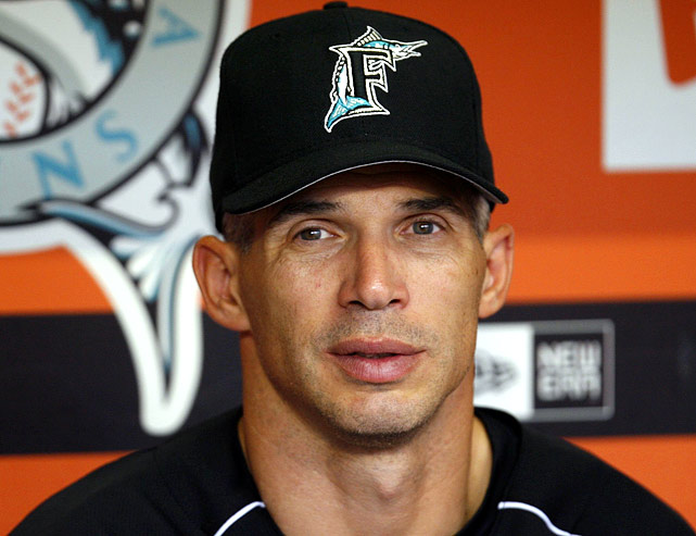 Inheriting a team with the lowest payroll in baseball as a 41-year-old manager in 2006, Girardi guided the surprising Marlins to a 78-84 finish, keeping them in wild card contention for much of the season. But Girardi's relationship with Marlins' owner Jeffrey Loria grew strained after a visible confrontation between the two on Aug. 6. As Loria criticized home plate umpire Larry Vanover in that game against the Dodgers, Girardi verbally confronted him and asked him to stop. Loria had to be talked out of firing Girardi that night, but he finally pulled the trigger after the season. Girardi went on to win the National League Manager of the Year award.