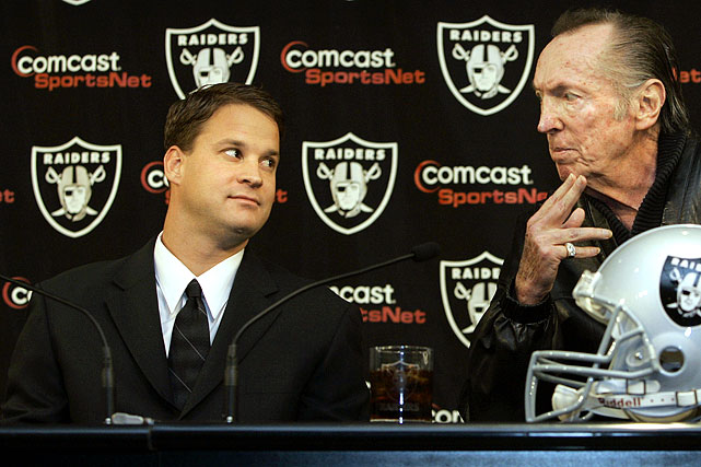 After Kiffin ended his first season as Raiders head coach with a 4-12 record, it was reported that owner Al Davis gave him a letter of resignation to sign. The drama continued through the summer, and finally Kiffin learned through a team executive that he would likely be fired after Oakland's Week 3 game against Buffalo. Davis acted the next week, firing Kiffin after a 1-3 start to the season.