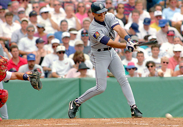 The No. 1 pick in the 1993 draft, A-Rod debuted for the Mariners just over one year later, three weeks shy of his 19th birthday, against the Red Sox at Fenway Park. He hit ninth and went 0-for-3, including a pair of groundouts. He played 16 more games in the majors before being sent back to the minors, where he stayed for most of the 1995 season as well before exploding in 1996 by batting .358 and driving in 123 runs.