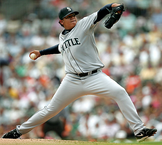 Hernandez first took the mound for the Mariners as a 19-year-old phenom. In his first big league start, King Felix took the loss despite hurling five innings of three-hit ball, giving up just two runs and striking out four Tigers. He was pulled after 81 pitches and finished his rookie year 4-4 with a 2.67 ERA.