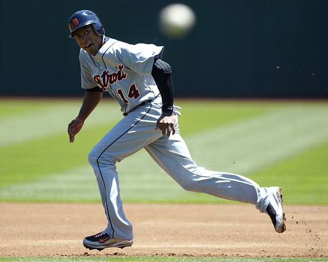 Austin Jackson's career in Detroit will almost certainly be measured against the production of Curtis Granderson in the Bronx, and right now the Tiger's like what they see. Jackson was batting .307 with one homer and 15 RBI as of June 23, and had 10 stolen bases while only being caught twice. He could be running his way into the AL ROTY race.