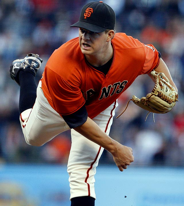 Matt Cain was a hit away from perfection as the right hander dominated the Diamondbacks, striking out 9 in a 5-0 win. The only blemish was a double by Mark Reynolds in the second inning as Cain was able to go wire to wire in 2 hours and 18 minutes. Through June 14, Cain ranked second in the NL in complete games (3) and shutouts (2) and fifth in ERA (2.05).