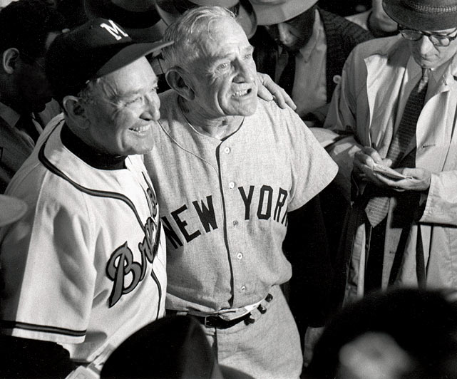 "Stengel led the Yankees to five straight World Series titles from 1949-1953, winning seven overall. ""The Old Perfessor"" had his No. 37 retired by both the Yankees and the Mets, despite the fact that he posted just a 175-404 record with the latter (Stengel was a highly popular figure due to his unique charm)."