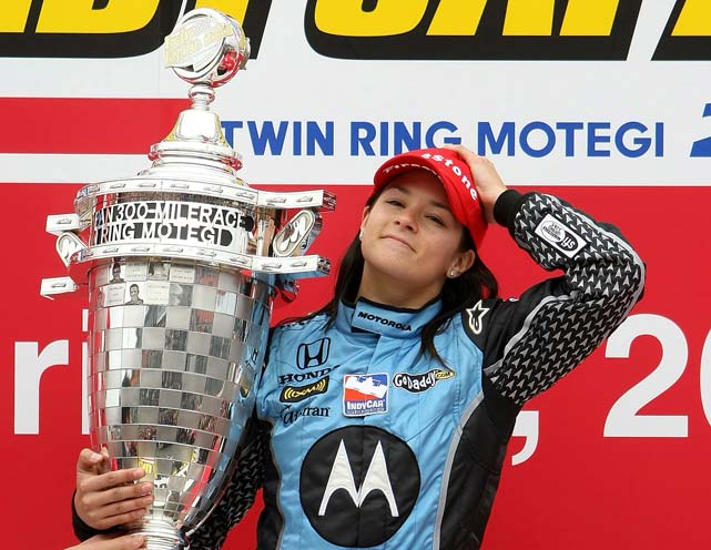 In her 50th professional start, Patrick became the first woman to win an IndyCar race with a victory at Japan 300 in Motegi.