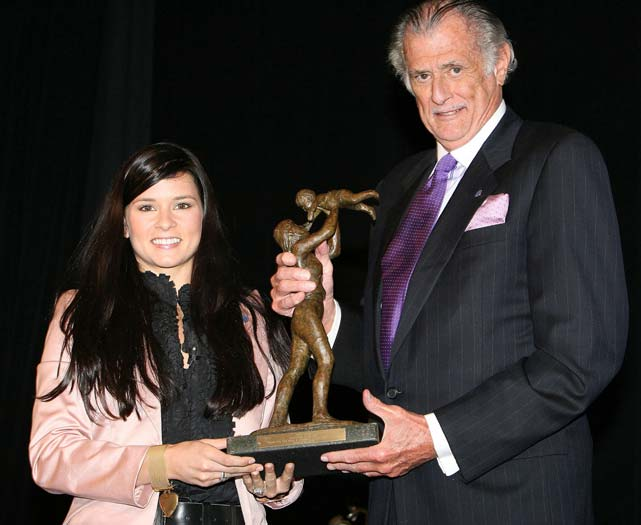 Patrick was named Sportswoman of the Year at the March of Dimes 23rd Annual Sports Luncheon at the Waldorf-Astoria in New York City. She received her award from veteran sportswriter Frank Deford.