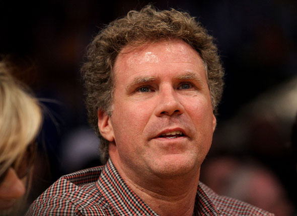 Actor and comedian Will Ferrell also took in the action at the Staples Center.