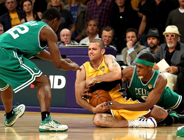 Jordan Farmar and the rest of the Lakers' bench turned in a scrappy performance, diving for loose balls and simply outworking the Celtics.