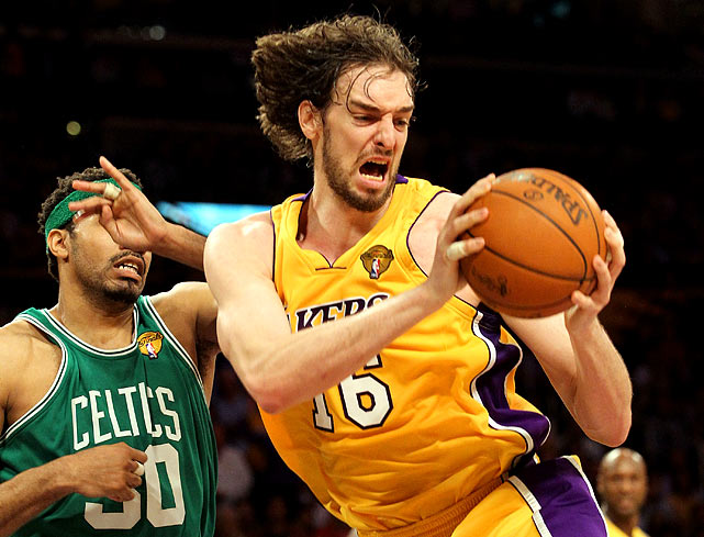 Pau Gasol, whose toughness was questioned in the previous two games, responded with a near triple-double Tuesday: 17 points, 13 rebounds and nine assists to go with three blocked shots.