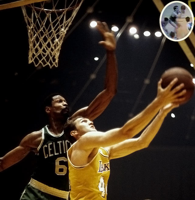 The Celtics nearly squandered a 17-point fourth-quarter lead but, thanks in part to Don Nelson's famous last-minute shot (inset) near the free-throw line, held on to win in Los Angeles. Bill Russell, the NBA's greatest winner, retired as a player after collecting his 11th title.