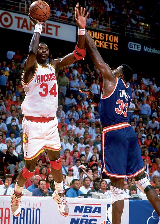 Critics described the physical, offensively deficient series as Uglyball (neither team scored more than 91 points in a game), but the result was a beautiful thing for the Rockets, who delivered the first major sports championship to Houston. Finals MVP Hakeem Olajuwon had 25 points, 10 rebounds and seven assists in Game 7, while Knicks guard John Starks famously shot 2-of-18 from the field and 0-of-11 from three-point range in Houston.