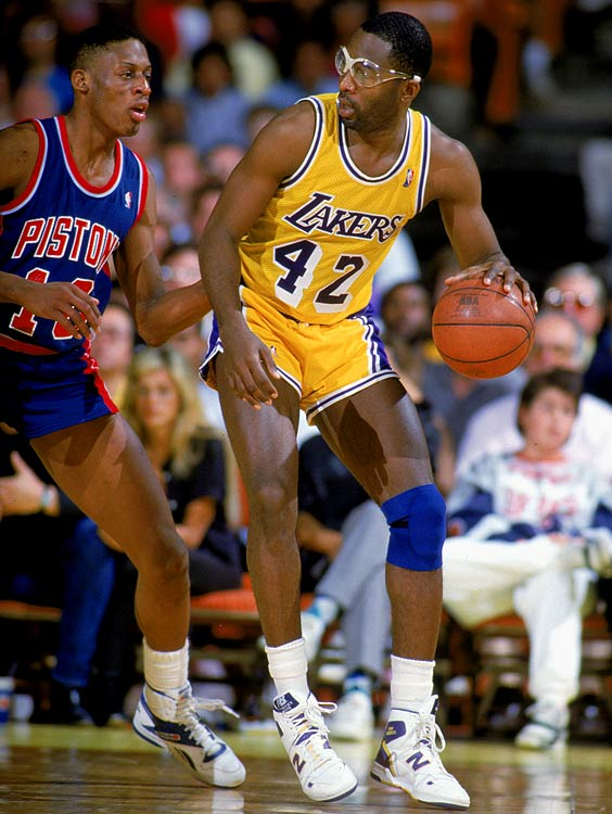 Facing an upstart Detroit team in their third Game 7 of the playoffs, the Lakers defended their NBA championship with a victory in Los Angeles. Finals MVP James Worthy led the way with 36 points and 16 rebounds, while the Pistons were weakened by Isiah Thomas' lingering ankle injury.
