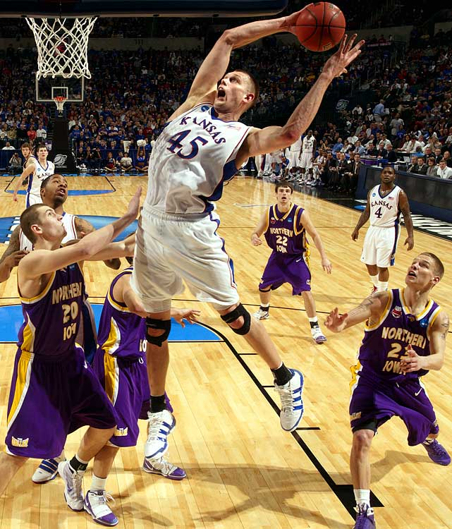Kansas, Junior Center 6-11, 250 pounds, 21 years old  Incredibly long center with excellent tools as a rebounder and defender and a high motor.