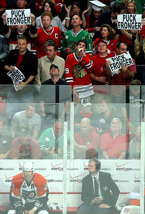 The roughneck Flyers defenseman is obviously a fan favorite in Chicago...