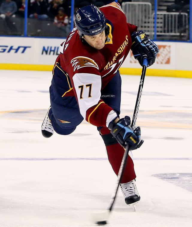 Signed with Tampa Bay Lightning (2 years, salary NA)  A big (6-4, 245) veteran (112 seasons) who can gobble minutes, he isn't particularly physical and he can be inconsistent, but his shot and offensive production can offset his defensive sins.    2009-10 stats (Atlanta):   76 GP  6 G  32 A  38 Pts