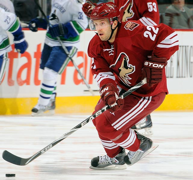 A trade deadline revelation, the quick, versatile forward scored 14 goals and 18 points in 18 games down the stretch for the Coyotes after coming over from the Leafs.   2009-10 stats (Toronto, Phoenix):   80 GP  28 G  20 A  48 Pts